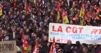bouchons manifestation paris loi du travail