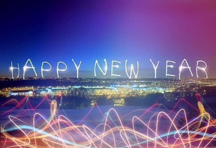 carte de vœux virtuelle, nouvelle année 2020